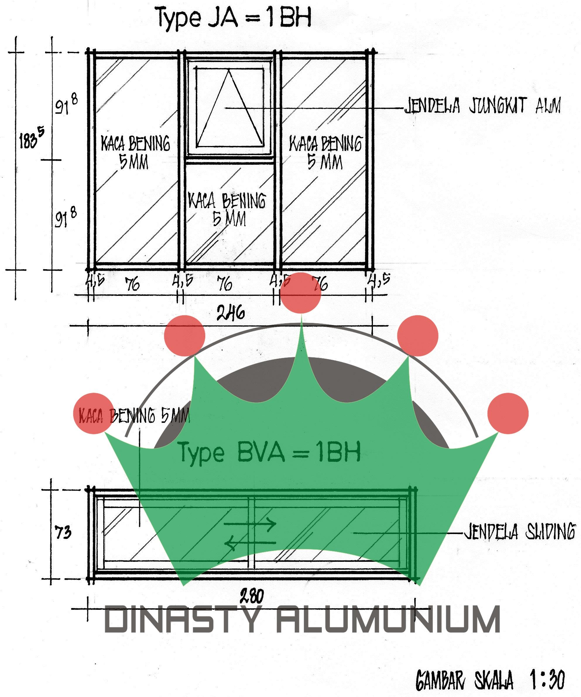 Harga Kusen Pintu Aluminium | Dinasty Alumunium