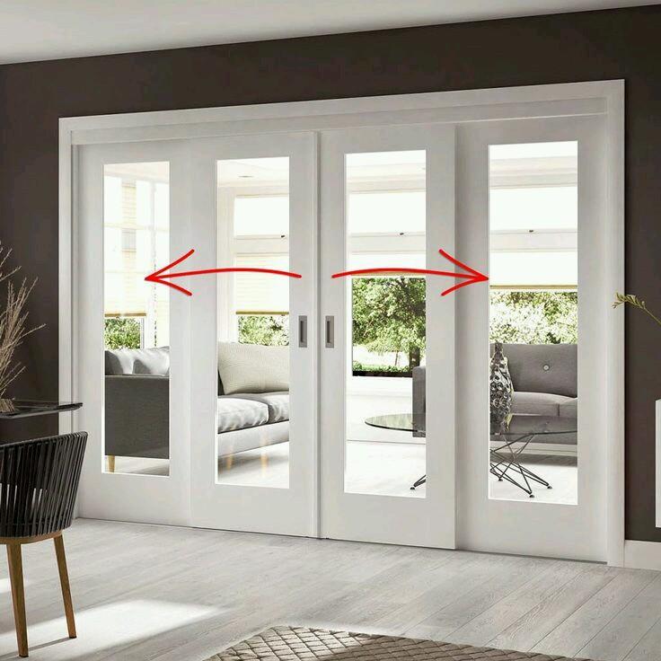 Contoh pintu geser rumah minimalis modern dari aluminium 1